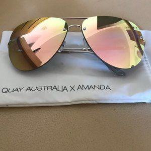 Quay X Amanda Steele 'Muse' Aviator Sunglasses